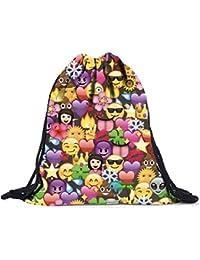 Mochilas tipo casual Sannysis Emoji mochilas con cordón, 39cm x 30cm