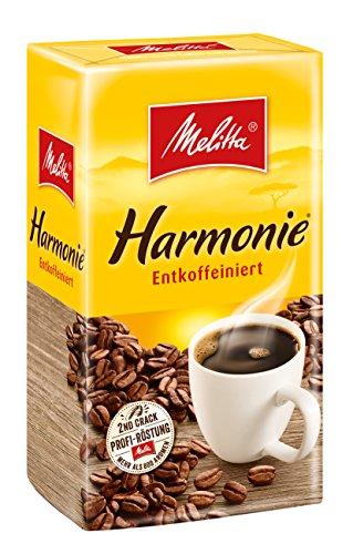 Melitta Gemahlener Röstkaffee, Filterkaffee, entkoffeiniert, vollmundig, milder Röstgrad, Harmonie...
