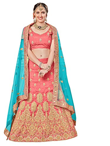 Surupta Gajari Pink Color Banglori Silk Designer Embroidered Lehenga Choli