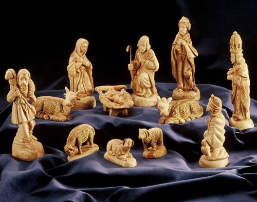 Presepi Di Legno Betlemme : Personaggi del presepe di betlemme stile classico cm set da