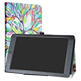 """ANOC 10.1 Case,LiuShan PU Leather Slim Folding Stand Cover for 10.1"""" ANOC 10.1 Android 7.0 Tablet,Love Tree"""