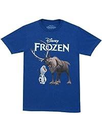 Disney la reine des neiges olaf and pals sven t-shirt pour homme bleu