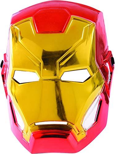 Luxuspiraten - Kostüm Accessoires Zubehör Kinder Iron Man Maske aus Avengers Assemble, perfekt für Karneval, Fasching und Fastnacht, ()