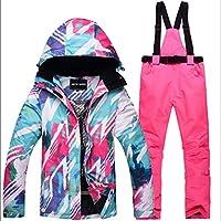 KARTELEI Damen Winter Ski Furnier Double Board Skianzug Set, um warm zu halten