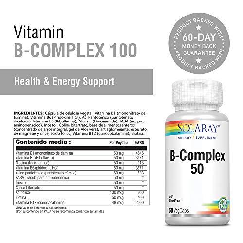 Solaray B-Complex 50 -- 50 Capsules by Solaray