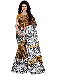 [Sponsored]Being Banarasi Women's Raw Silk Animal & Floral Print Saree Without Blouse Piece(1009_P)