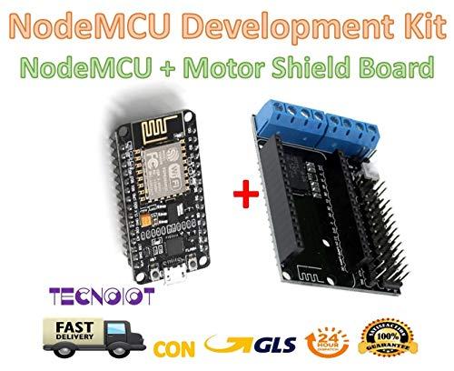 NodeMCU + Motor Shield Development Kit WIFI ESP-12E ESP8266 esp 12E for Arduino |NodeMCU-Entwicklungsboard + ESP-12E-Motorträger-Kit für Smart Robot Car