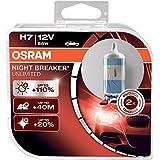 OSRAM NIGHT BREAKER UNLIMITED H7, Halogen headlamp, 64210NBU-HCB, 12V passenger car, duobox (2 units)