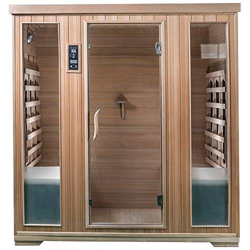 Saunamed 4Personen Classic Hemlock FAR Infrarot Sauna EMR neutralTM
