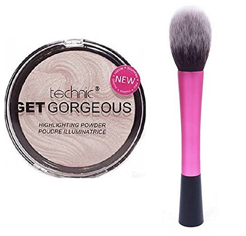 technic-get-gorgeous-highlighting-powder-12g-lydiar-red-hot-pink-fluffy-flawless-face-makeup-brush