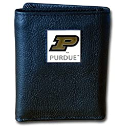 NCAA Purdue Boilermakers Deluxe Leather Tri-fold Wallet