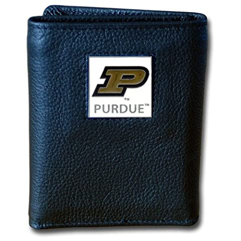 NCAA Purdue Boilermakers Deluxe Leather Tri-fold