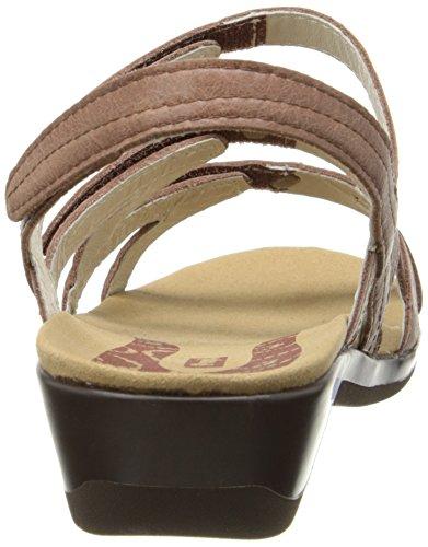 Propet Lizzette Damen Offener Spitze Leder Slingback Sandale Chestnut