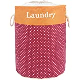 HOKIPO 38L Printed Laundry Basket (Red)