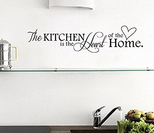 Adesivi Murali Frasi Cucina.Adesivi Murali Frasi The Kitchen Is The Heart Of The Home Stickers Muri Fai Da Te Per Cucina Decorazione Parete