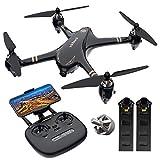 Virhuck GPS RC Drohne mit Kamera 1080P FHD 5G Wi-Fi FPV Live Video und GPS Heimkehr, Folgen Sie Mir, Höhe halten, eine Taste Start / Landing, leistungsstarke Brushless Motor, Bonus-Batterie