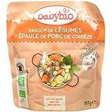 Babybio Sachet Ragoût de Légumes/Porc des Pays de la Loire 190 g -