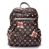 Wewod Tasche Damen Formschöner Rucksack aus Nylon Backpack Freizeitrucksack Cityrucksack
