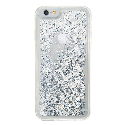 For iPhone 6 4.7[CUTE SPARKLING]Novelty Creative Liquid Glitter Design Liquid Quicksand Bling Adorable Flowing Floating Moving Shine Glitter Case -PURPLE EIFFEL SILVER