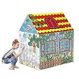 WDXIN Kinderspielzelt Bällebad Spielzimmer Spielzeug Innen Spielzimmer Graffiti Malerei Falten Prinzessin Zelt.