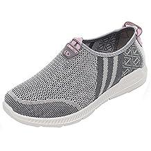 b1c2525f1a Zapatillas Deportivas Zapatos Planos Mujer Vestir Running Bambas Verano  Minelli Sandalias de Mujeres Tela Unisex Classic