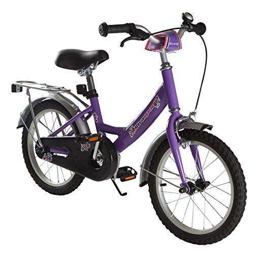 Ultrasport Kinderfahrrad 16 Zoll, lilafarbenes Fahrrad für Mädchen ab 4,5 Jahre (ca. 100 cm Körpergröße), ein 16 Zoll Kinderrad mit Rücktrittbremse - Mädchen Für Fahrräder 16 Zoll