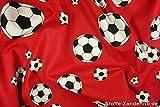 Fußball, Druck,140cm (rot-schwarz-weiss)