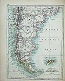 Telecharger Livres Cartes du Monde de Johnston Paraguay 1895 Argentine les Malouines (PDF,EPUB,MOBI) gratuits en Francaise