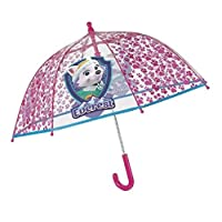 PERLETTI perletti75119 Girl 42/8 Poe Transparent Paw Patrol Printed Safety Open Windproof Umbrella, Multi-Color