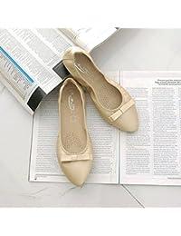 GAOLIM Volumen Volumen Zapatos con Punta De Base Plana Y Cómodos Zapatos De Mujer Embarazada Negra Pajarita En...