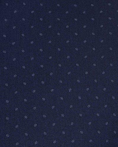 BLZ jeans - Chemise homme bleu navy à motifs col mao Bleu