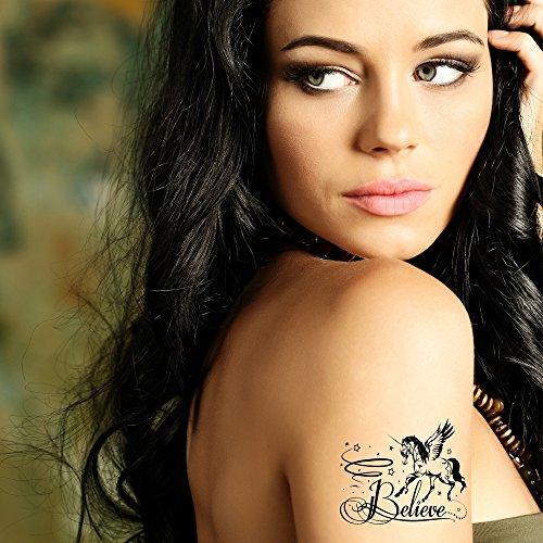 Bling Art Tatouages temporaires tribal noir Croyez Ensemble de sept tatouages UK