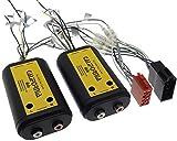 Verstärker Adapter 4-Kanal REMOTE ISO Endstufe Cinch Stecker High Low Auto PKW