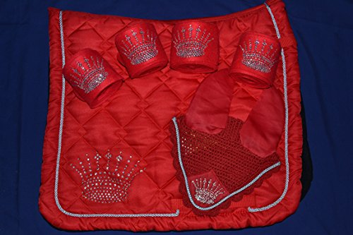 Luxus Dressur Set , NEU, WB ,Rot ,beidseitig Strass , absolut super schick
