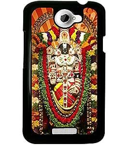ColourCraft GOD Tirupati Balaji Design Back Case Cover for HTC ONE X