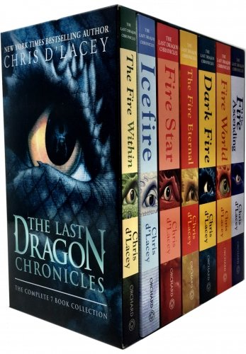 The Last Dragon Chronicles Collection By Chris d'Lacey 7 Books Set (Dark Fire, Fire Eternal, Fire Star, Fire World, Ice Fire, The Fire Within)