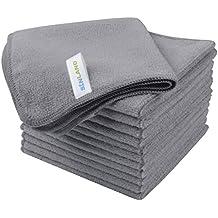 SINLAND Paño de microfibra para limpieza,toallas de cocina,paños de cocina (Gris
