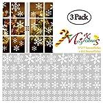 XinGe Adesivi per finestre fiocco di neve Adesivi murali fiocchi di neve di Natale Fiocco statico fiocchi di neve grandi Decorazione natalizia per vetro, ornamenti per porte 3 pezzi 81 pezzi