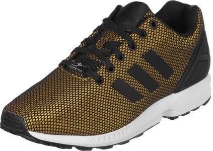 adidas Zx Flux, Scarpe Stringate Uomo Multicolore (Negro / Dorado)