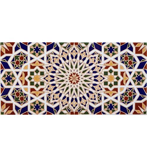 Casa Moro Marokkanische Keramikfliese orientalisch Rabab 30 x 15 cm 0,99 m² Mosaik-Muster | Maurische Fliese | Schöne Wandfliesen für Küche Bad & Küchenrückwand | FL2090