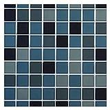 Truu Design iDesign Collection, Quadrat glänzend Wand Fliesen, 1.549,4x 25,4cm Stück, blau