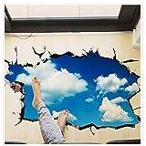 Boden Aufkleber Applikation abnehmbare Wandbild Vinyl Kunst Sterne Himmel Boden Dach