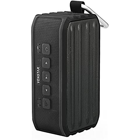 Altavoz Bluetooth 4.0, altavoz inalámbrico portátil, altavoz estéreo portátil, Bluetooth-speaker V4.0, color negro, compatible con Apple y Android, batería de litio incorporada para 10 horas de funcionamiento autónomo, cable USB en el