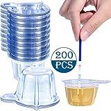 200 Vasos de Orina Vasos de Recolección de Orina de Plástico Vasos Desechables de Muestra de Orina para Prueba de Embarazo, 40 ML