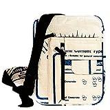 Upcycling Umhängetasche 'Diamond blau' - Fair Trade Tasche aus Zementsäcken - Design Fairtrade Tragetasche Beutel