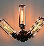HHY-Amerikanische Schlafzimmer gang Treppe retro dekorative Beleuchtung Lampe Flöte Herd, 3 Leiter