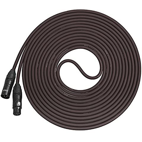 LyxPro Balanced XLR Cable 6.1m Premium Series Professional Microphone Cable, Powered Speakers and Other Pro Devices Cable,