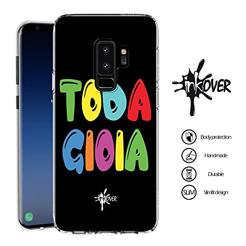 INKOVER Cover Samsung Galaxy S5 / S5 Neo Custodia Cover Trasparente Sottile Slim Fit TPU Gel Morbida Cool Nice Scritta TODA Gioia S5 / S5 Neo