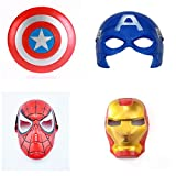 #10: Fancydresswale Avenger Theme combo of Captain America Mask & Shield, Ironman Mask and Spiderman Mask (Premium)