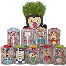 Dazoriginal Cabeza de Hierba Animales Grass Head DIY Magia Maceta Huerto Urbano